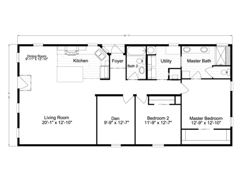 >Siesta Key II P2566Q Floor Plan by Palm Harbor Homes