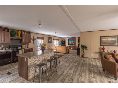 Open kitchen, with living room on the right and den/media room in the far back - Velocity Model VE32563V