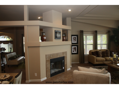 Living room - The Mt. Shasta 5V465A4, Palm Harbor Homes
