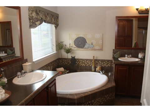 Glamor master bath - The Mt. Shasta 5V465A4, Palm Harbor Homes