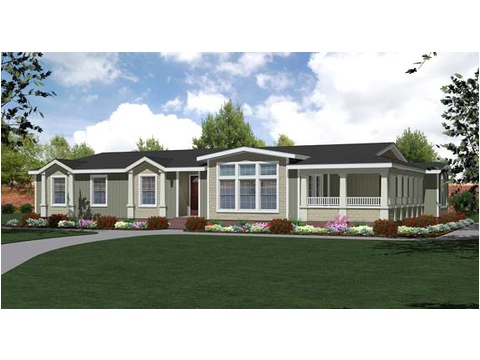 Standard elevation, artist's rendering - The Mt. Shasta 5V465A4, Palm Harbor Homes