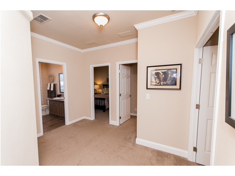 Hallway between bedroom 2 and 3 - The Mt. Shasta 5V465A4, manufactured home by Palm Harbor Homes