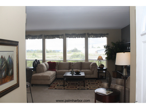 Spacious family room - The Truman III N4P366A1, Palm Harbor Homes