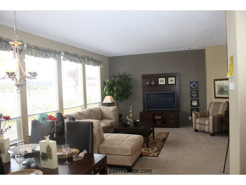 Spacious living room - The Truman III N4P366A1, Palm Harbor Homes
