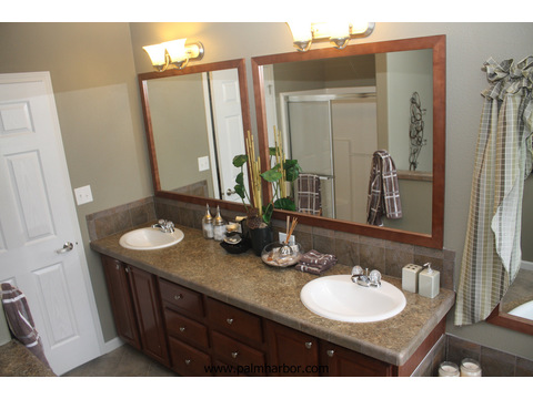 Master bathroom - The Truman III N4P366A1, Palm Harbor Homes