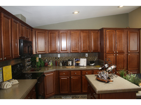 Gourmet kitchen with tons of storage and pass-through to living room - The Truman III N4P366A1, Palm Harbor Homes