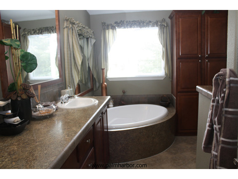 Glamor master bath - The Truman III N4P366A1, Palm Harbor Homes