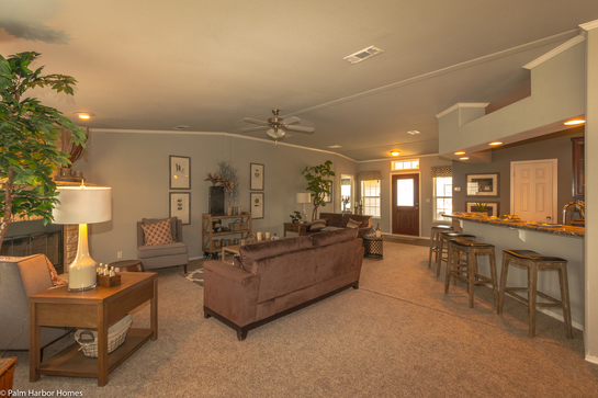 The Term Open Concept Living Was Invented To Describe The Living Room In The Hacienda By Palm Harbor Homes 4 Bedrooms 3 Baths 2338 Sq Ft Well