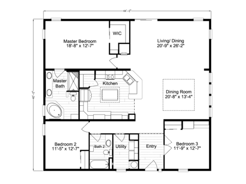 >Sandburg X344C2 or 40443A Floor Plan