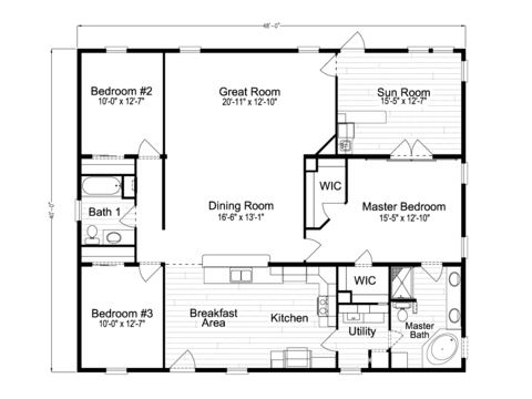 >Wellington TSX3486F Floor Plan by Palm Harbor Homes