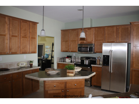 Spacious kitchen with lots of cabinets - The Timberridge 5V460T5, Palm Harbor Homes
