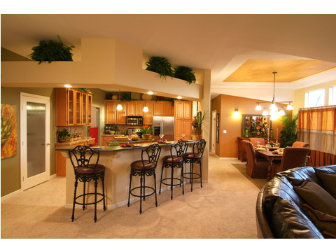 Open living area - The Timberridge 5V460T5, Palm Harbor Homes