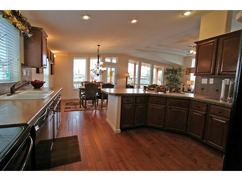 Spacious kitchen with lots of counter space - The Metolius Cabin N5P264K1, Palm Harbor Homes