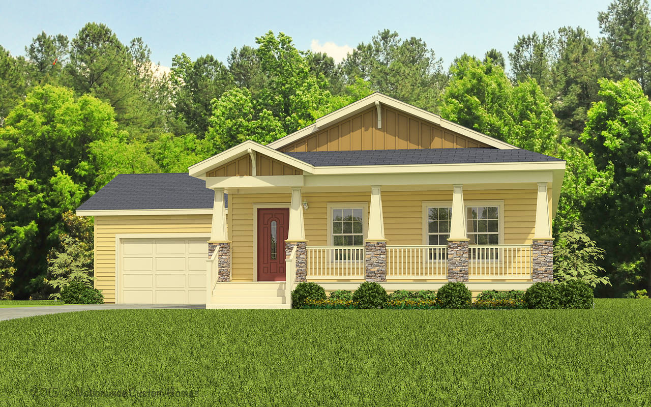 View wilmington floor plan for a 1690 sq ft palm harbor for Carolina home plans
