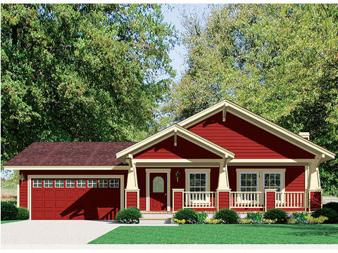 Craftsman Elevation w/garage - Wilmington by Palm Harbor Homes
