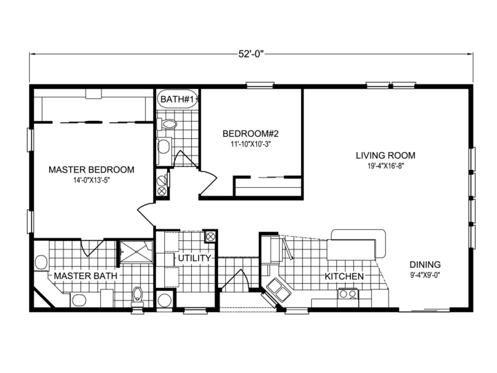 View Key Biscayne floor plan for a 1387 Sq Ft Palm Harbor – Palm Harbor Homes Floor Plans