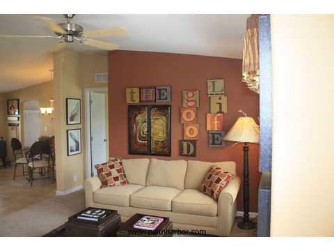 The Bay View I by Palm Harbor Homes - Family room