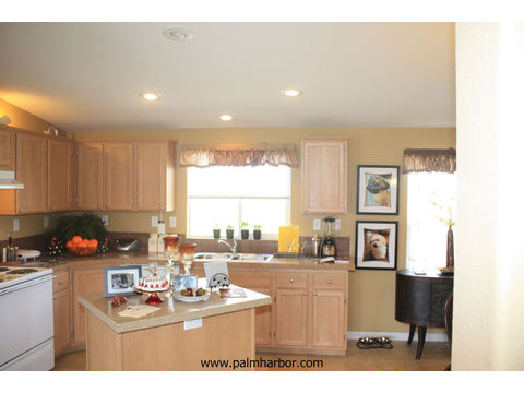 The Bay View I by Palm Harbor Homes - Spacious kitchen with tons of counter space