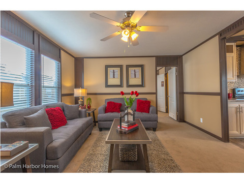 Living room - Model PE32604F, 4 Bedrooms, 2 Baths, 1,840 Sq. Ft.