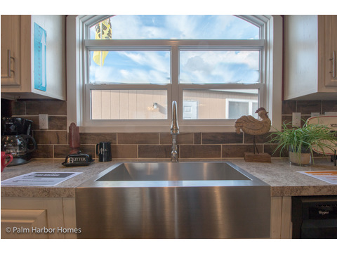 Window over kitchen sink - Model PE32604F, 4 Bedrooms, 2 Baths, 1,840 Sq. Ft.