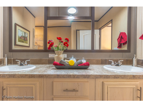 Double vanity in master bath - Model PE32604F, 4 Bedrooms, 2 Baths, 1,840 Sq. Ft.