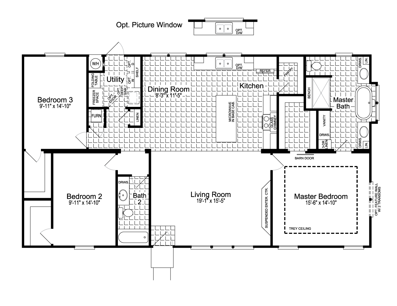 The Urban Homestead FT32563C manufactured home floor plan or modular ...
