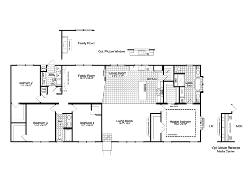 4-Bedroom with Family Room Option - The Urban Homestead III FT32764F Floor Plan (2,356 Sq. Ft.) - a smaller 28' wide version also available