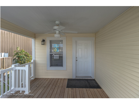 Large covered porch - Buena Vista by Palm Harbor Homes, 2 Bedrooms, 2 Baths, 1,109 Sq. Ft.