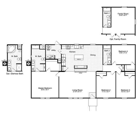Floor Plan:The Momentum II MMT460B1 Floor Plan