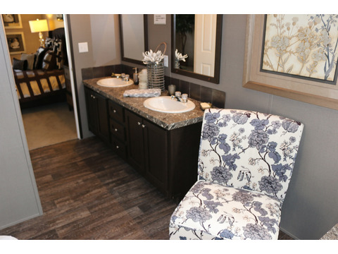 Even room for a sitting area in the master bath!!! Look how beautiful the vanities are!