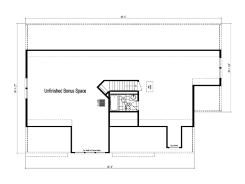 The Richland -  UNFINISHED Second Level Floor Plan - Square footage not included
