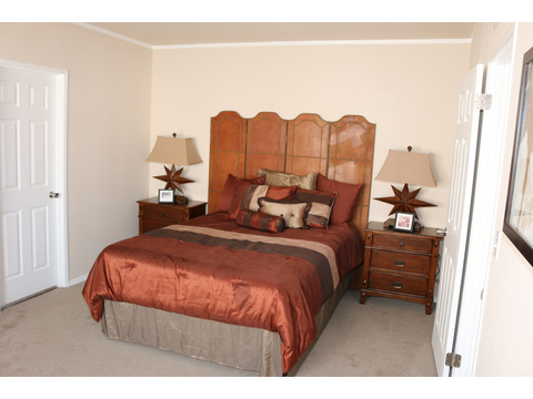 Large master suite in the Grand Cypress manufactured home featuring 3 Bedrooms, 2 Baths, 1178 Sq. Ft. - www.palmharbor.com