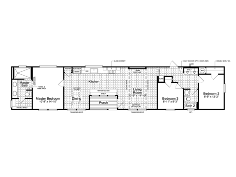 >The Lago Mira FF16763I floor plan - 1,130 Sq. Ft., 15'6