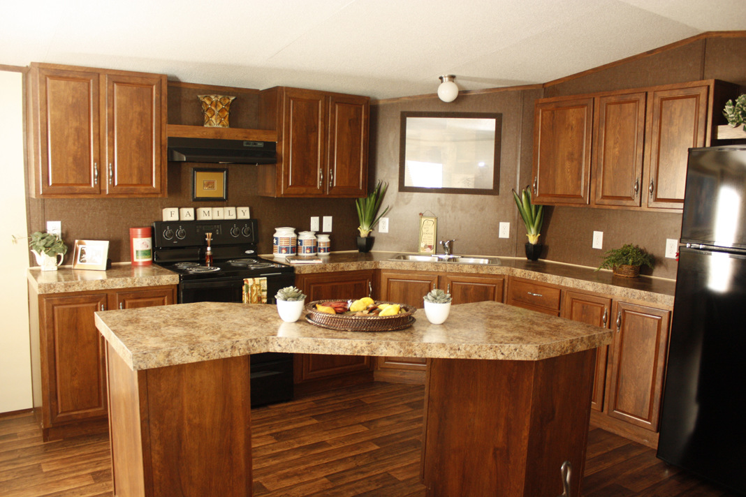 An Oddly Shaped Kitchen Island: Velocity Model VE16723V Manufactured Home Floor Plan Or