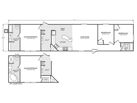 >Standard floor plan with optional master suite design