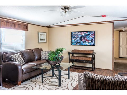 Living area in the Velocity single wide model 16723V