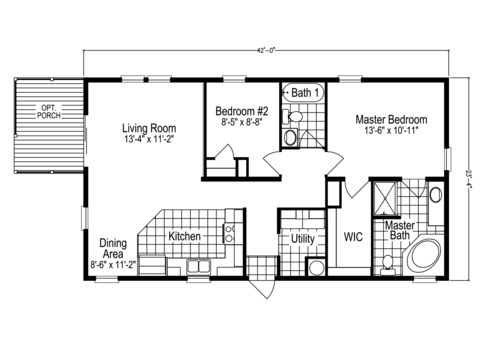 View Addison Floor Plan For A 980 Sq Ft Palm Harbor