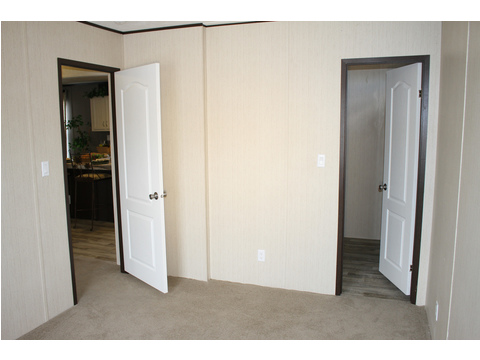 More of the secondary bedroom with large closet.