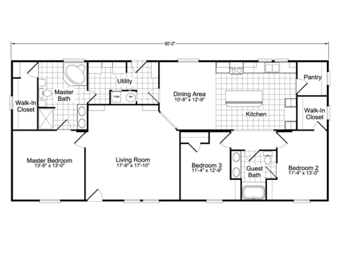 >Model PH28603A Standard Floor Plan