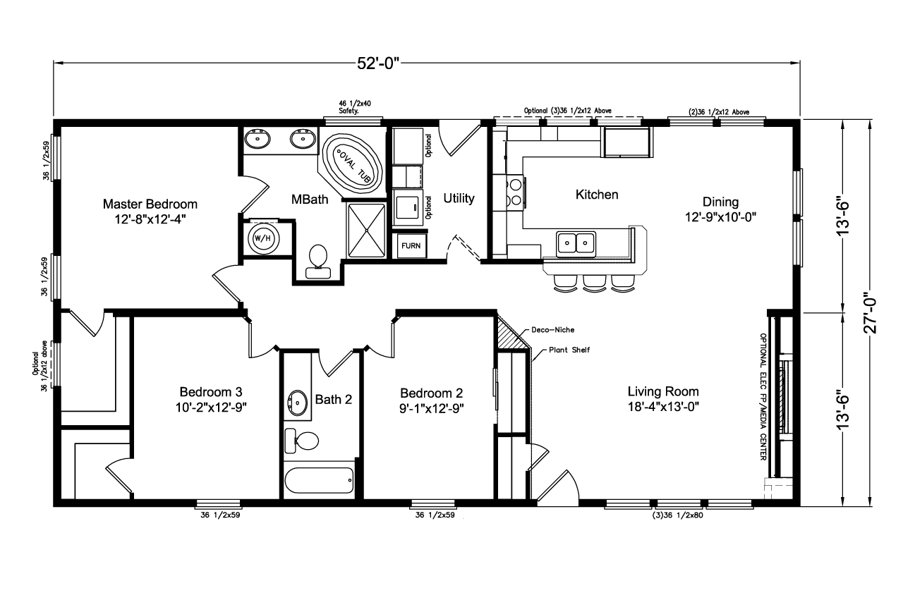 The Lakeport Ad28523l Manufactured Home Floor Plan Or Modular Floor Plans
