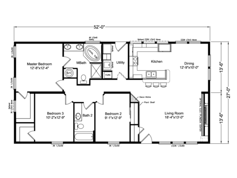 >The Lakeport AD28523L Floor Plan - by Palm Harbor Homes