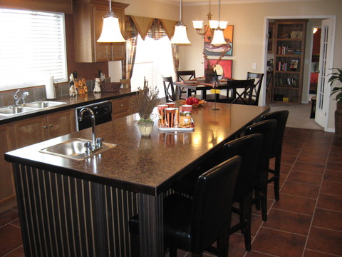 Kitchen Island - The Pecan Valley IV by Palm Harbor Homes