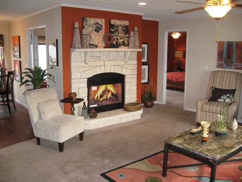 Living Room - The Pecan Valley IV by Palm Harbor Homes