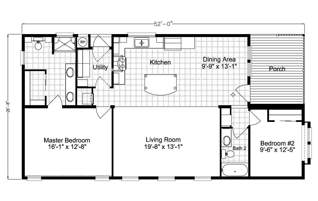 Summer breeze iv ls28522d manufactured home floor plan or for Deck plans for mobile homes