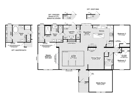 >Floor Plan - The Vintage Farmhouse Flex FT47643A by Palm Harbor Homes