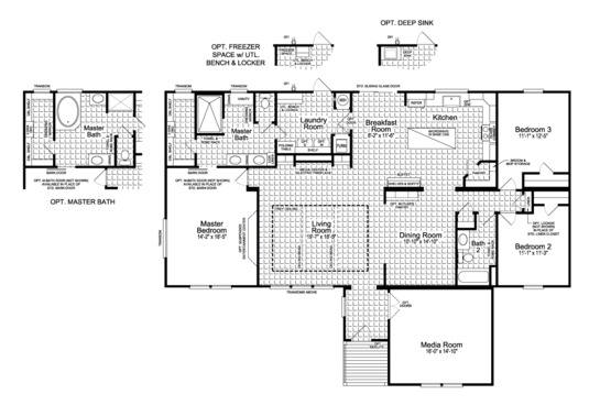 Floor Plan:Floor Plan - The Vintage Farmhouse Flex FT47643A by Palm Harbor Homes