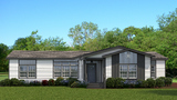 The Vintage Farmhouse Flex model home - 3 bed, 2 bath with 2 living and 2 dining areas - available from Palm Harbor Homes.  Available in various configurations with a variety of options in bedrooms, bathrooms and flex spaces.