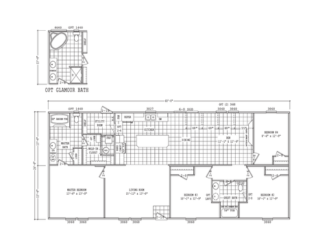 >Model PH28604F Standard Floor Plan