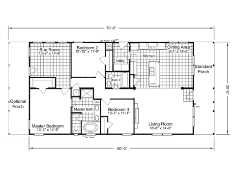 The retreat 30603r manufactured home floor plan or modular for 30x60 house plan