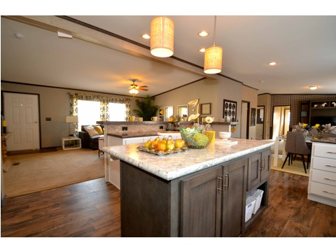 This is a Chef's dream kitchen with space for meal preparation as well as space for meal consuming :) - The Benbrook KHT364F2 by Palm Harbor Homes